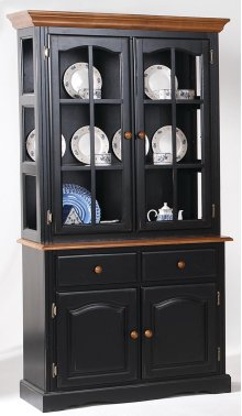 2 Door Curio Hutch Top