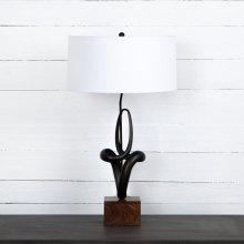 Kemp Table Lamp-white