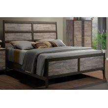 Henderson 2 Tone Melamine Sleigh Queen Bed