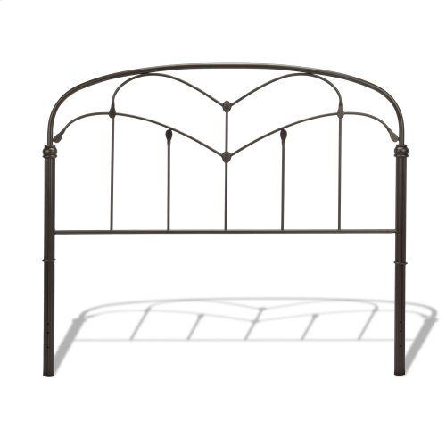 Pomona Headboard with Arched Metal Grill and Detailed Posts, Hazelnut Finish, King