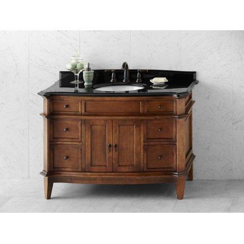 """Solerno 48"""" Bathroom Vanity Cabinet Base in Café Walnut"""