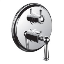 "7098ep-tm - 1/2"" Thermostatic Trim With 3-way Diverter Trim (shared Function) in Standard Pewter"