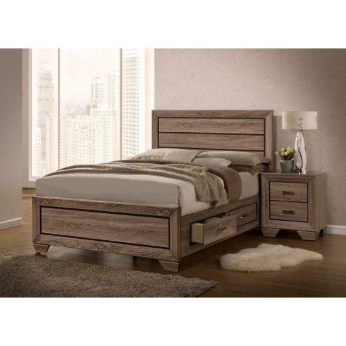 Kauffman Transitional Washed Taupe Eastern King Five-piece Set