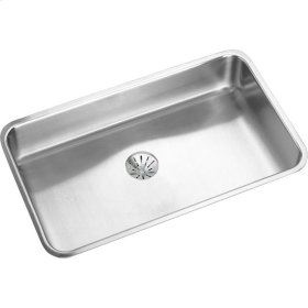 """Elkay Lustertone Classic Stainless Steel 30-1/2"""" x 18-1/2"""" x 7-1/2"""", Single Bowl Undermount Sink with Perfect Drain"""