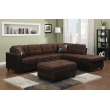 Mallory Casual Chocolate Sectional