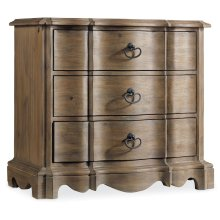 Bedroom Corsica Three Drawer Nightstand