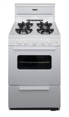 24 in. Freestanding Sealed Burner Spark Ignition Gas Range in White Product Image