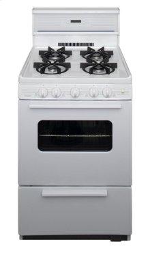 24 in. Freestanding Sealed Burner Spark Ignition Gas Range in White