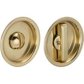 Sliding Pocket Door Mortise Lock in (US3 Polished Brass, Lacquered)