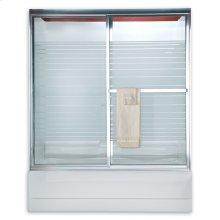 """Prestige Framed Sliding Shower Doors, 68"""" - Brushed Nickel"""