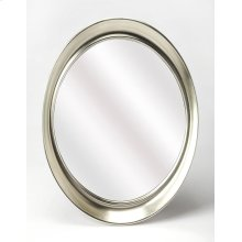 Hanging this mirror in any of your rooms is like making a fashion statement. With it's thick silver tone finished polyurethane frame giving it a fun appearance it will be an asset to your home. It has an oval shape and is ideal for your foyer , where you