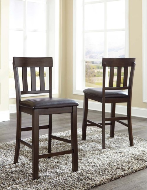 Haddigan - Dark Brown Set Of 2 Dining Room Barstools