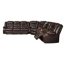 Vacherie - Chocolate 3 Piece Sectional