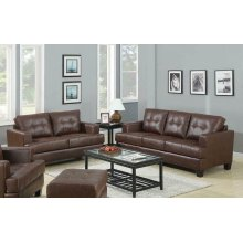 Samuel Transitional Brown Two-piece Living Room Set