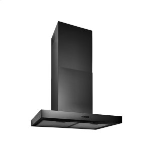 BroanBroan® 30-Inch Convertible T-Style Wall Mount Chimney Range Hood w/ LED Light, Black Stainless Steel