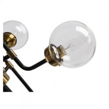 Hugo Table lamp/Metal+Glass/Polished Brass+Matte Black/23.5*23.5*31.5