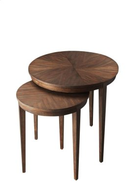 These tables feature elegant four-way-match veneer tops and slim tapered legs. Crafted from acacia wood solids and acacia veneers in the Cocoa finish, they are as versatile and functional as they are beautiful.