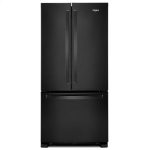 33-inch Wide French Door Refrigerator - 22 cu. ft. Black - BLACK