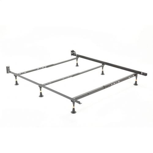Nautilus H2034 Adjustable Waterbed Frame with Reversible Headboard Brackets and (6) Leg Glides, Twin - Full