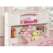 Newport Bookcase Headboard Twin White