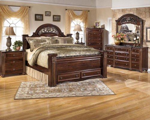 Gabriela - Dark Reddish Brown 2 Piece Bedroom Set