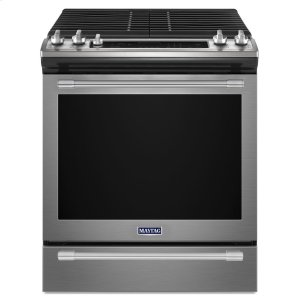 Maytag30-INCH WIDE SLIDE-IN GAS RANGE WITH TRUE CONVECTION AND FIT SYSTEM - 5.8 CU. FT.