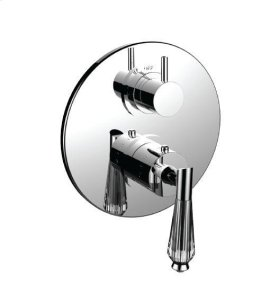 """1/2"""" Thermostatic Trim With Volume Control and 3-way Diverter in Bright Pewter"""