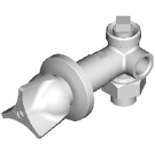 Remote straight or angle valve