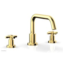 BASIC Deck Tub Set - Tubular Cross Handles D1136D - Polished Gold