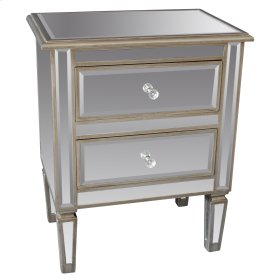 !nspire Eden Accent Table In Antique Silver