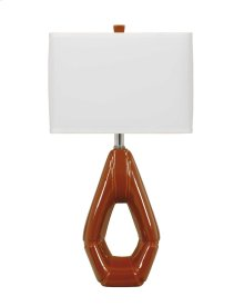 Ceramic Table Lamp (2/CN) Rumiko - Burnt Orange Collection Ashley at Aztec Distribution Center Houston Texas