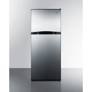 "Summit24"" Wide 9.9 CU.FT. Frost-free Refrigerator-freezer With A Black Cabinet and Reversible Stainless Steel Doors"