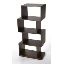 The ultra-modern cubical etagere will add style and tons of storage to your home. Its four boxes can be used to display family photos, collectables and trinkets on the many shelf spaces offered by this unique bookcase. Crafted in Mango wood and Mango wood