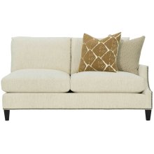 Crawford Right Arm Loveseat in Cerused Charcoal (795)