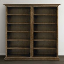 Compass Northern Grey Compass Tall Double Open Bookcase