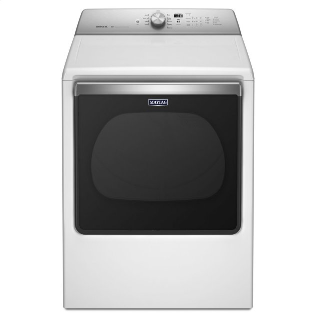 Maytag 8.8 cu. ft. Extra-Large Capacity Gas Dryer with Advanced Moisture Sensing White