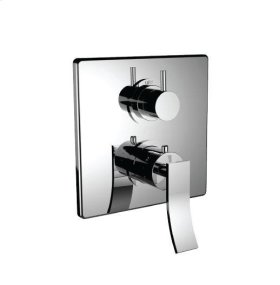 """1/2"""" Thermostatic Trim With Volume Control and 3-way Diverter in Satin Chrome"""