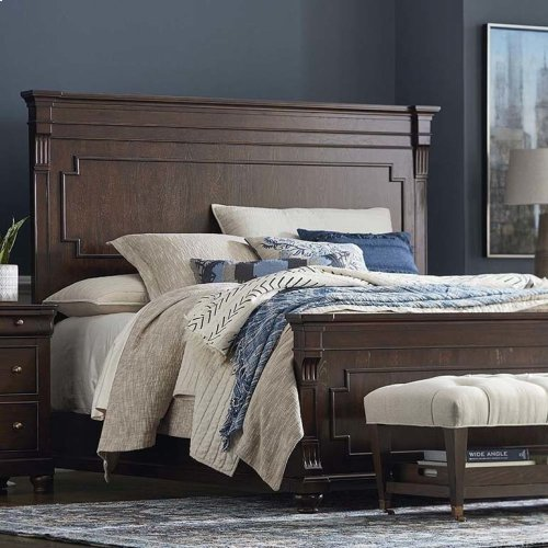 King/Provence Espresso Provence Panel Bed