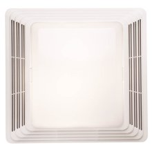 Replacement bathroom exhaust fan grille with light