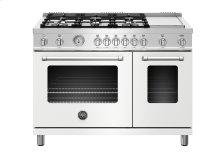 "48"" Master Series range - Gas Oven - 6 aluminum burners + griddle"