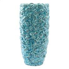 Petals Lg Vase Teal