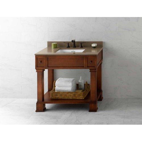 "Palermo 36"" Bathroom Vanity Cabinet Base in Colonial Cherry"