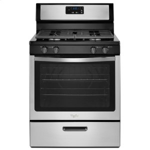 5.1 cu. ft. Freestanding Gas Range with Under-Oven Broiler - BLACK-ON-STAINLESS