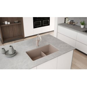 Blanco Precis Reversible 1-3/4 Bowl With Low Divide - Truffle