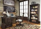 Townser - Grayish Brown 2 Piece Home Office Set Product Image