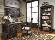Townser - Grayish Brown 2 Piece Home Office Set