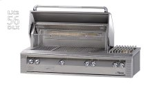 """56"""" Deluxe built-in grill with side burner"""