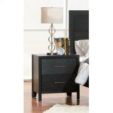 Grove Black Two-drawer Nightstand