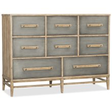 Bedroom Urban Elevation Eight-Drawer Bureau