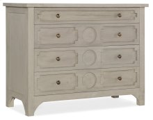 Living Room Button Down Four-Drawer Accent Chest